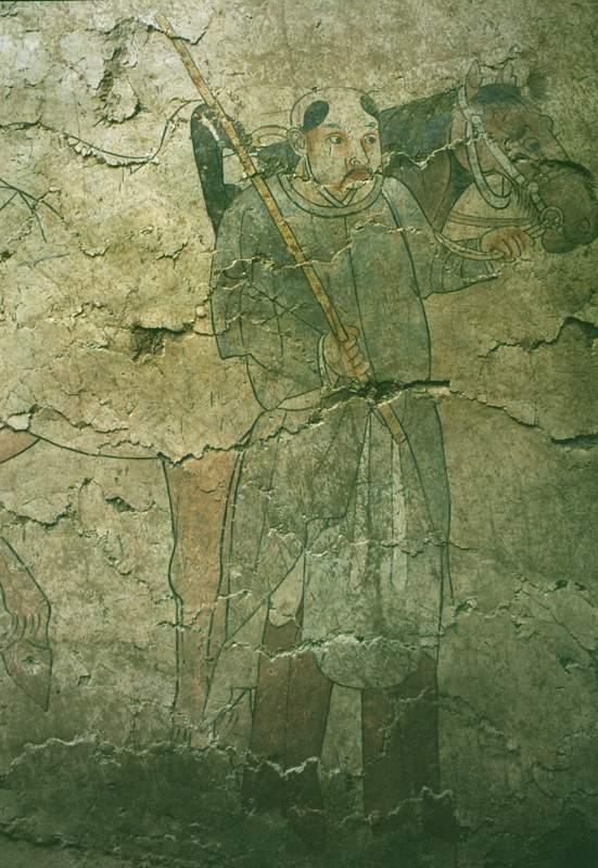 如内蒙古库伦旗七号辽墓壁画,描绘契丹游牧狩猎的生活场面,驼马成群