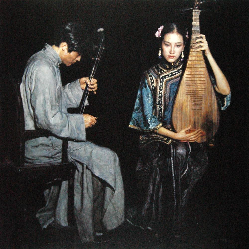 陈逸飞 音乐与女人 - 香儿 - xianger