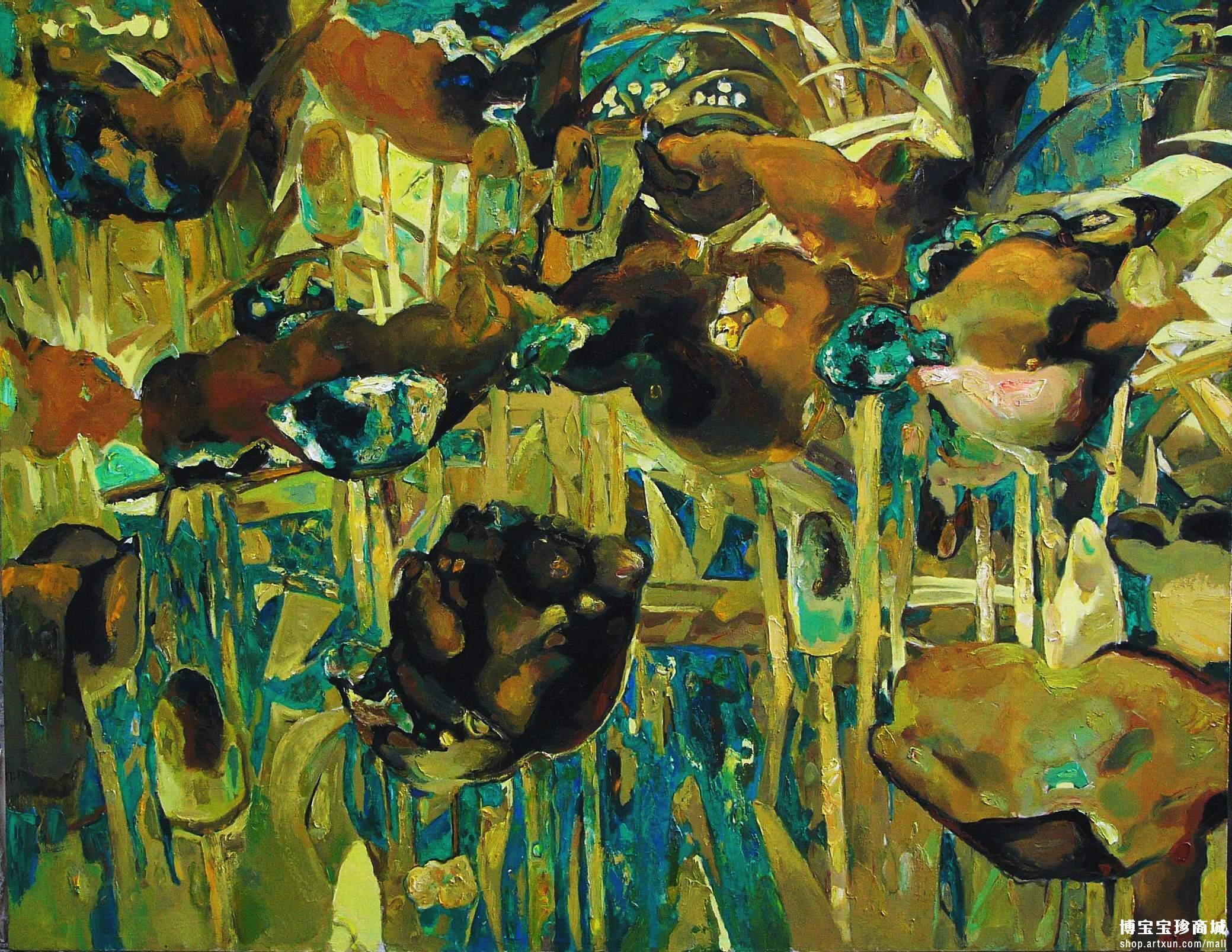 温馨可爱油画背景图