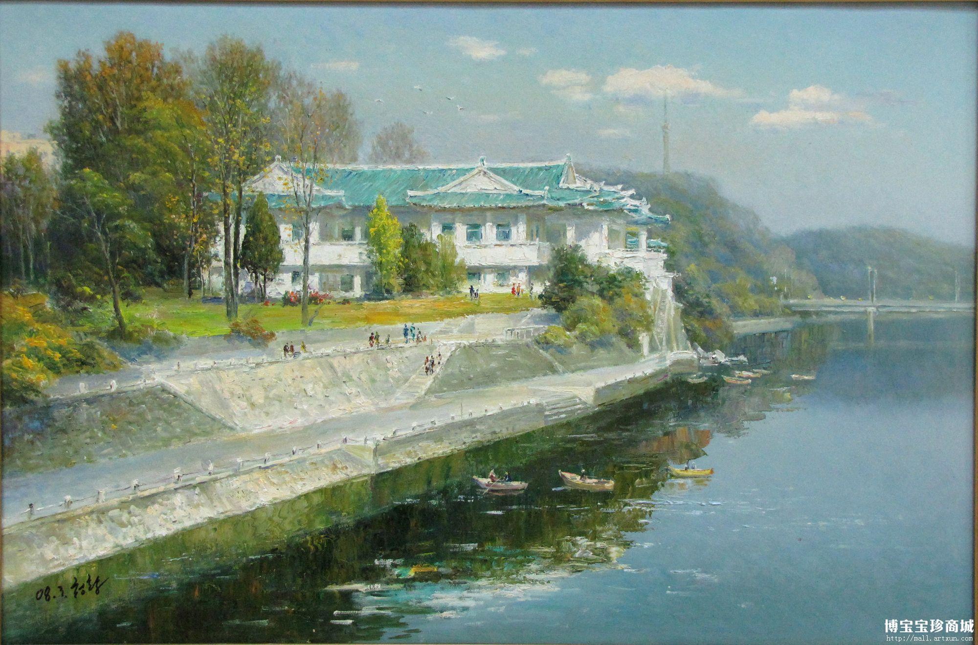名画收藏选朝鲜写实油画风景图