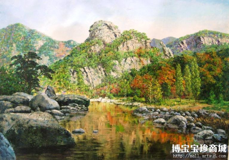 朝鲜风景油画 装饰收藏两相宜